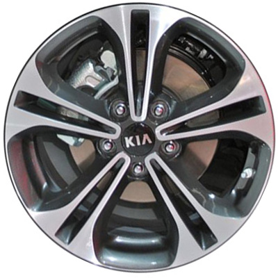 2014 kia forte wheels machined charcoal rims 98722. Black Bedroom Furniture Sets. Home Design Ideas