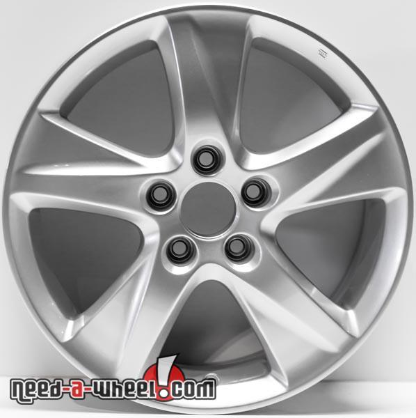 """17"""" Acura TSX Replica Wheels 2009-2011 Silver Replace Rims"""