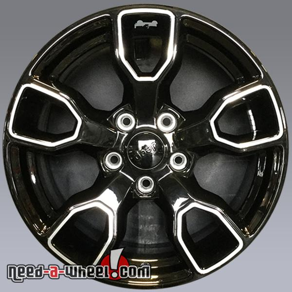 Jeep Wrangler Unlimited Rubicon Sahara Black Oem Wheels